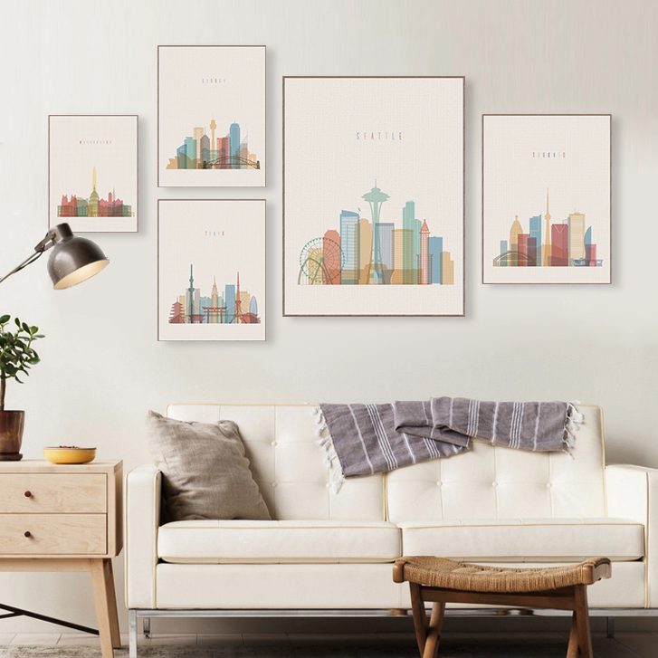 Modern Abstract World City Paris London Posters Prints Big Wall Art Picture Vintage Retro Living Room Home Decor Canvas Painting Wall Pictures Canvas Art Print Posternew York Canvas Aliexpress