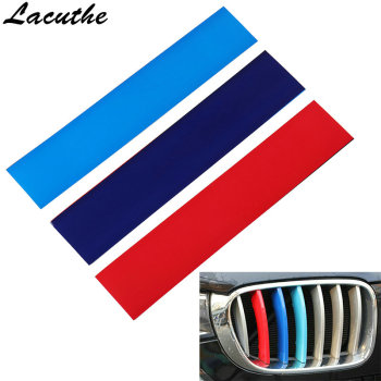 New 3 Color Car Sticker Front Grille Grill Vinyl Strip Sticker Decal For BMW M3 M5 E46 E60 E90 Car Styling image