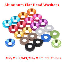 50pcs M2 M2.5 M3 M4 M5 M6 Aluminum Alloy Countersunk Head Washers for Flat Head Screw Bolt Gasket Aluminum Cone Washer Anodized(China)
