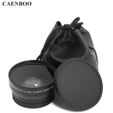 CAENBOO 0.45x37mm 43mm 46mm 49mm 52mm objectif Macro grand Angle objectif caméra grand Angle pour Canon EOS Nikon pour accessoires dobjectif Sony