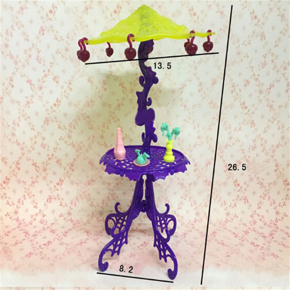 Amusement Bar Couch Chairs Table Dessert Sun Umbrella For Girl Doll Accessories Kid Toy House Furniture For 1/6 Doll