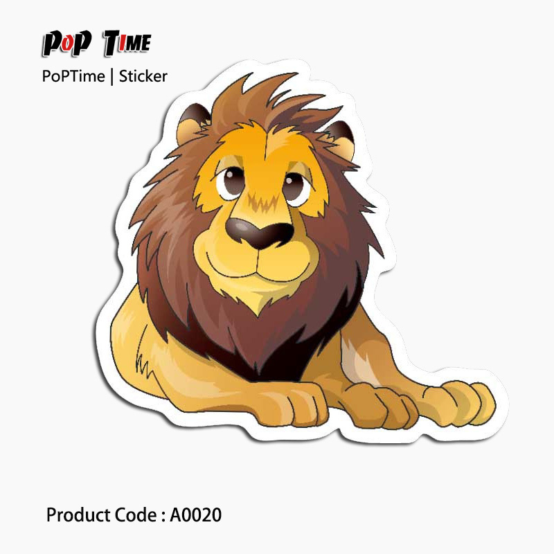A0020 Big lion animal Dream Anime Kids Recognition Toy Stickers for DIY Car Laptop Skateboard Pad Bicycle PS4 Phone Decal trunk