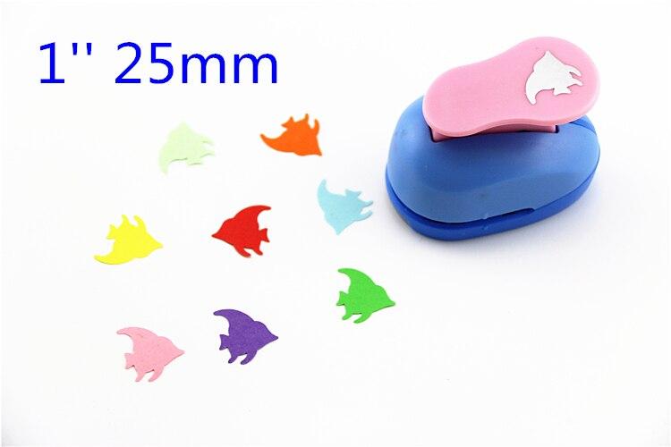 Free Ship 1'' (2.5cm) Fish Paper Cutter Scrapbooking Punches Paper Punch Eva Foam Punch Child Diy Craft Punch Scrapbook S2945
