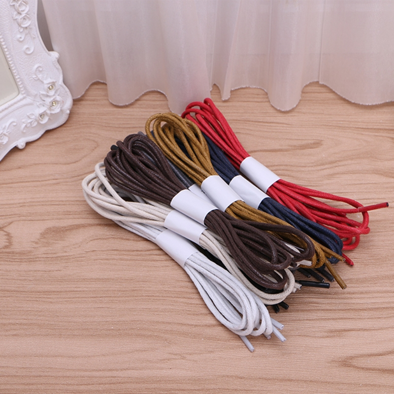 New Round Anti Water Blend Cotton Shoelace Colorful Fashion String For Boots Sneaker