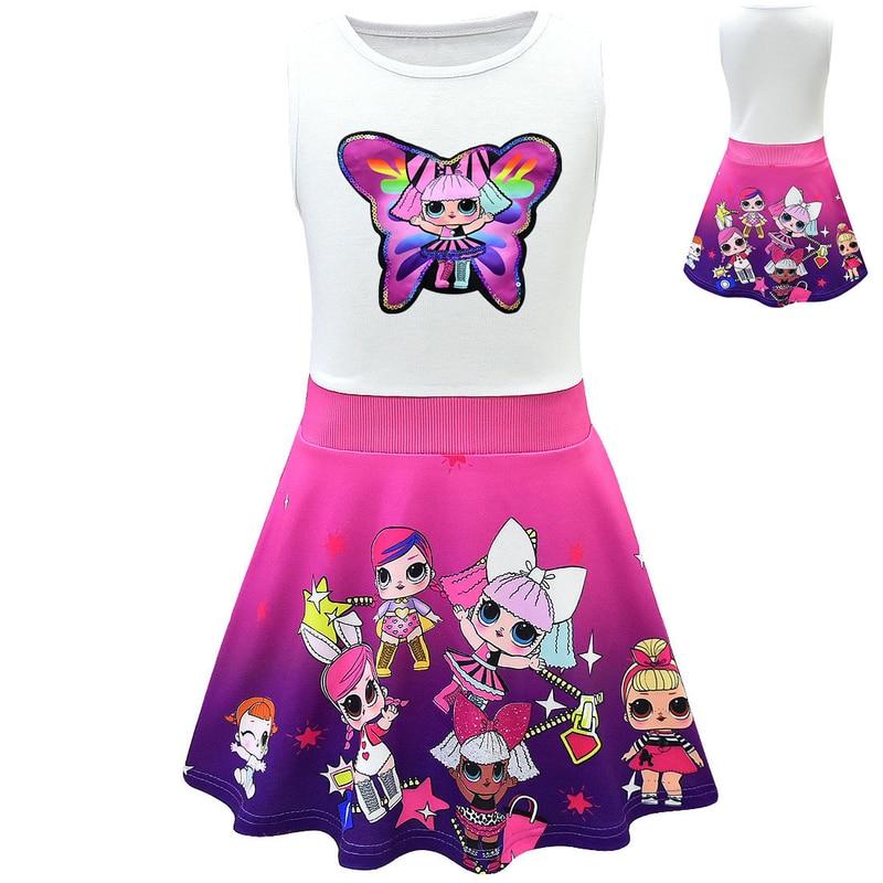 Dress Girl LoI Toddler Baby Girl Dresses Summer Princess Girls Dress Kids Party Christmas Costumes Children Doll Clothes Dresses