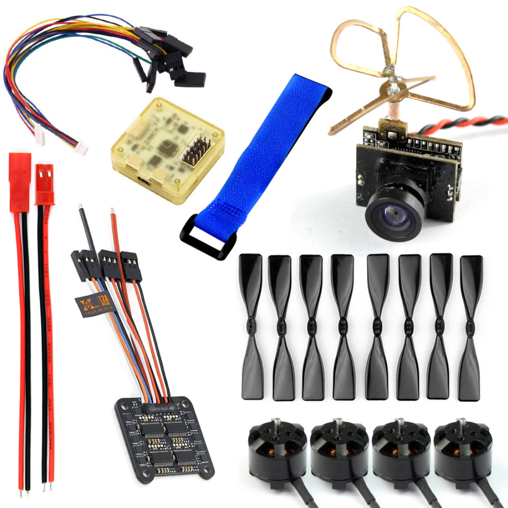 JMT DIY 130-150 FPV Racing Drone parts 1104 4000KV Motor 12A 4 IN 1 ESC 3 Inch Props CC3D Flight Control 5.8G 25mW TX W/ Camera gemfan 5 4 3 3d propeller ghost gold 5040 5 inch 3 blade props for racing multirotor fpv gemfan 3d master props 4 diy drone