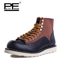 Pathfinder Male Hiking Boots Desert Tactical Leather Fashion Mens Botas Shoes Four Seasons Casual Martin Botas