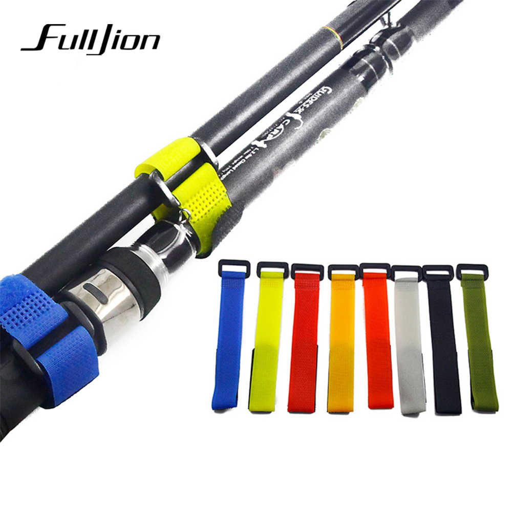 Fulljion 1pc Fishing Accessories Reusable Fishing Rod Tie Holder Strap Suspenders Hook Loop Cord Belt Fishing Tackle Tools Pesca