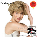 Afro Kinky Curly Blonde wigs Synthetic Short Black For Black Women Natural Cheap Fashion Party Short Hair Cut Wigs