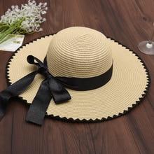 Giappone Coreano di Stile di Estate di Viaggio Mare Spiaggia Cappello di  Paglia Delle Donne Del 3d2dd62d2314