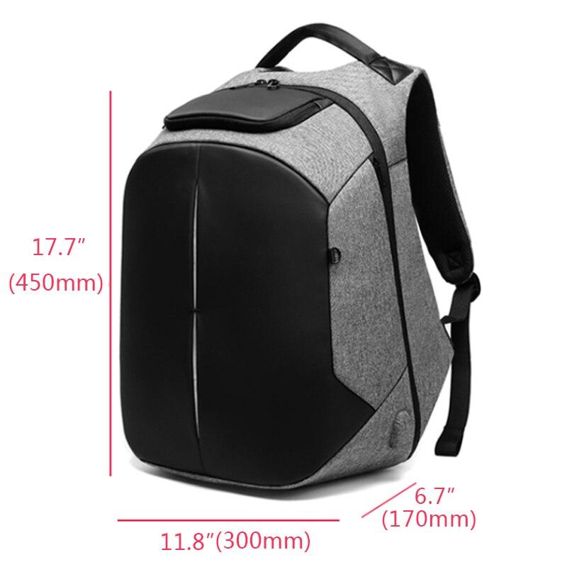 Bagaj ve Çantalar'ten Sırt Çantaları'de EURCOOL Erkek seyahat sırt çantası İşlevli Büyük Kapasiteli Çanta USB Şarj 15.6 inç Laptop Sırt Çantaları Su Geçirmez n0005'da  Grup 3