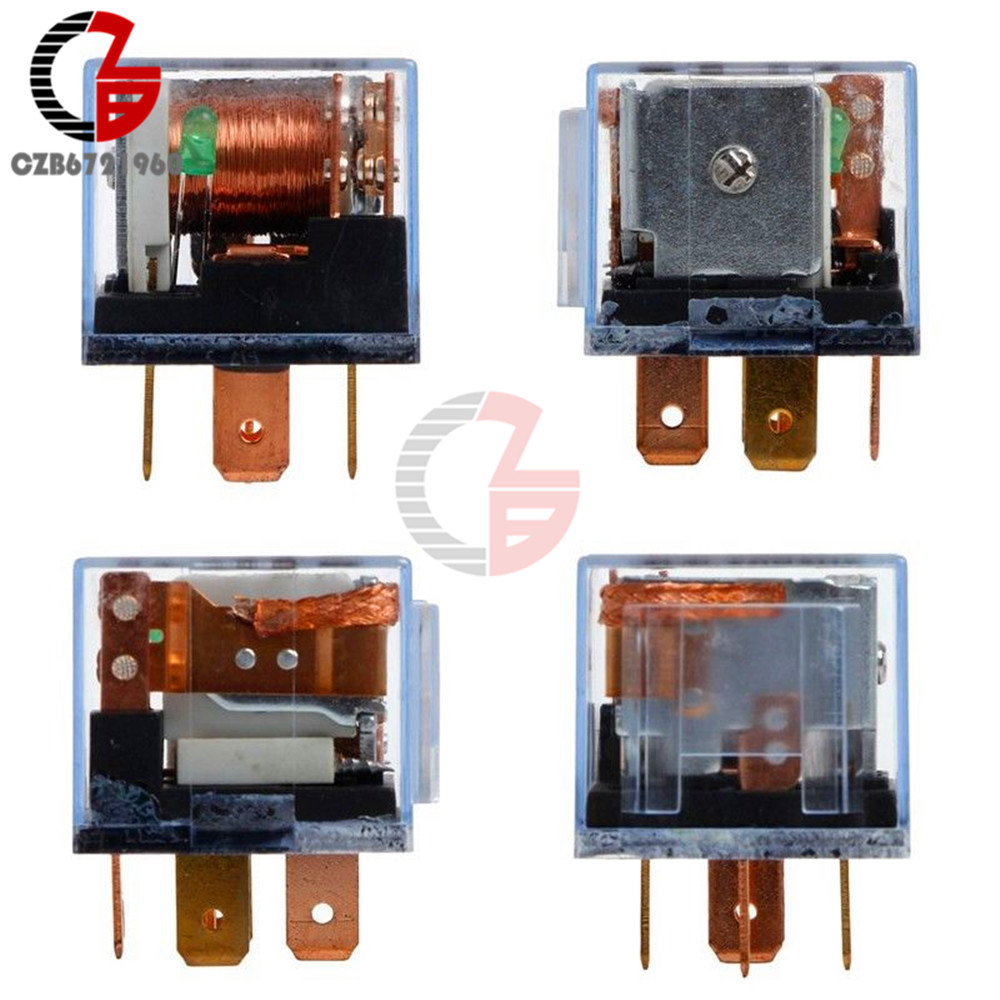 Waterproof Automotive Relay 12V 100A 5Pin SPDT Car Control Device Car Relays DC 24V 48V High Capacity 100A Switching Capability