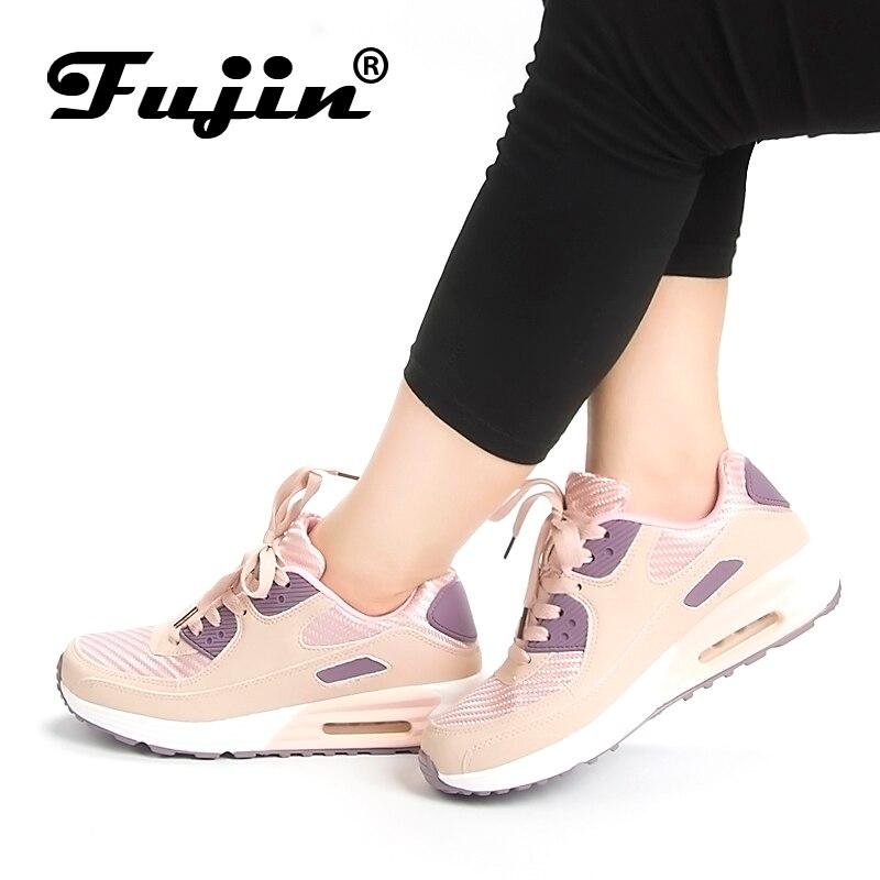 2018 Fujin SpringFashion Women Shoes Female Casual Shoes tenis feminino light breathable mesh shoes Platform Lady shoes sneakers