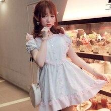 Principessa sweet lolita dress bobon21 design esclusivo da solo il gnu stampa amore scava fuori il vestito spalla della rugiada d1210