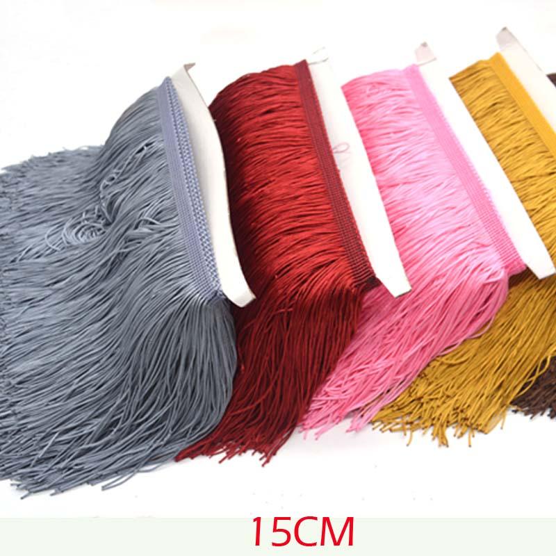 15cm Wide Lace Fringe Trim Tassel  Fringe Trimming For DIY Latin Dress Stage Clothes Accessories 1 Yards