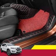 Für Nissan X-trail X trail T32 2014-2020 Auto Matten Luxus-Surround Leder Fußmatten teppich liner Auto matte auto innen geändert