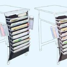 Creative stationery multi-functional student desk hanging book bag Learning book storage bag