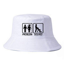 PROBLEM SOLVED bucket hat harajuku pop fisherman cap Summer fashion Snapback hats