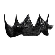 Halloween Gauze Sheer Yarn Roll Black Atmosphere Rendering Party Decor Creepy