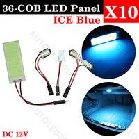 10pcs Lot Car Vehicle LED 36 SMD COB Chip 36LED 12V DC With T10 Festoon Socket