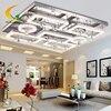 HGHomeart 2015 New LED Modern Minimalist Crystal Ceiling Lamp Rectangular Living Room Lights Lamps Lighting Bedroom