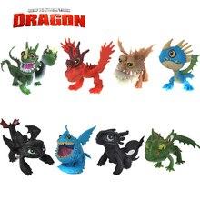 Ensemble complet 8 Pcs Juguetes Comment Dresser Votre Dragon 2 Figurines Nuit Fury Édenté figurines enfants jouets édenté dragon jouets