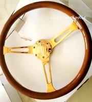 황금 크롬 스포크 15 인치 38 센치메터 범용 빈티