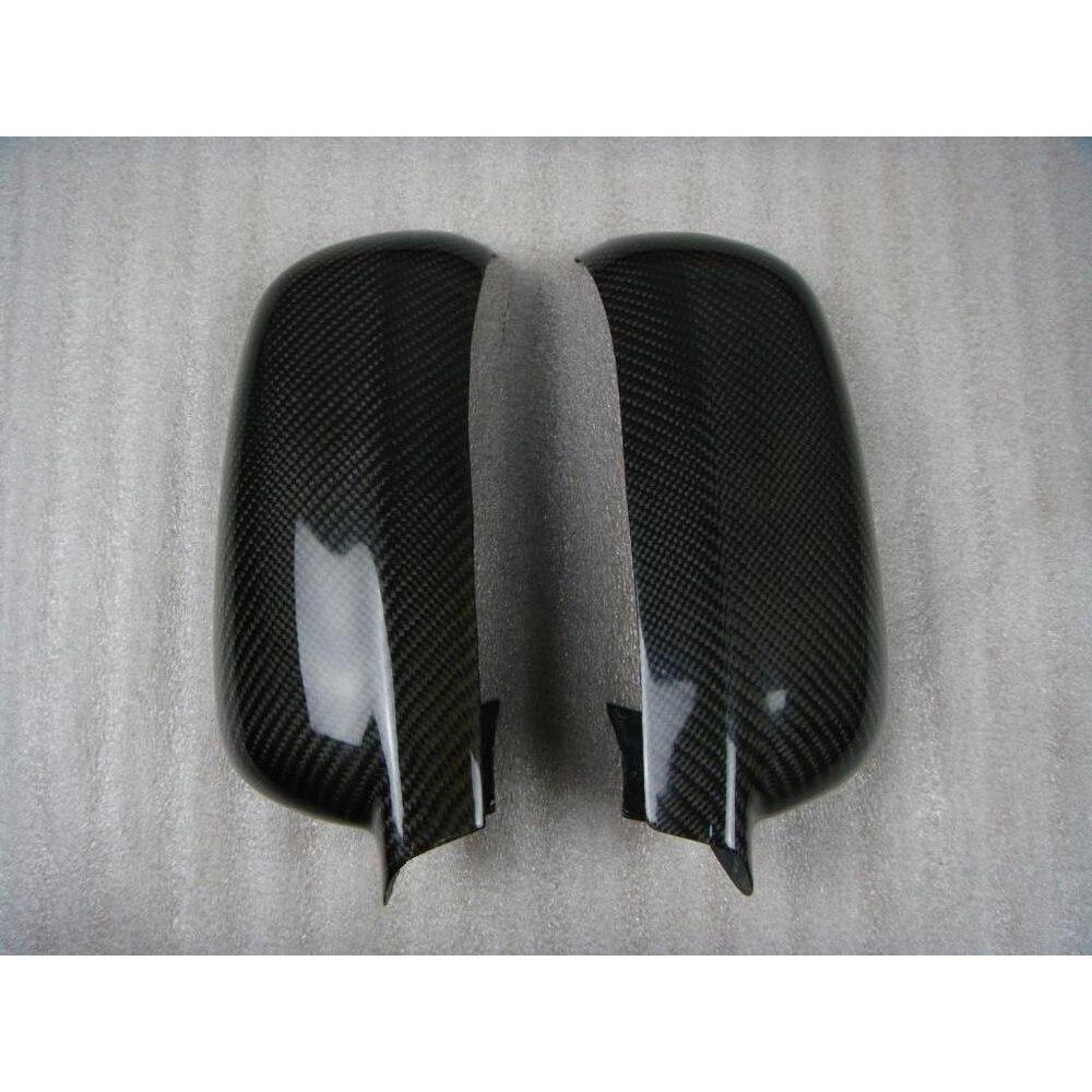 Углеродное волокно автомобиль автомобильная сторона Зеркало заднего вида шапки Чехлы Планки для Volkswagen VW Golf 4 Характеристическая вязкость полимера MK4 1998-2004 добавить на Стиль - Цвет: Same Size