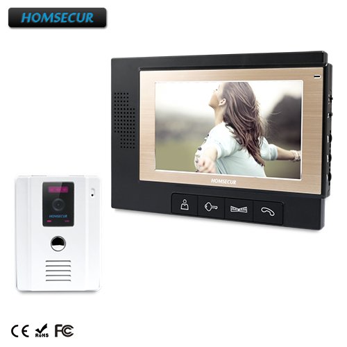 """HOMSECUR 7"""" Hands-free Video&Audio Home Intercom+LCD Color Screen for House/Flat : TC011-W  + TM702-B"""