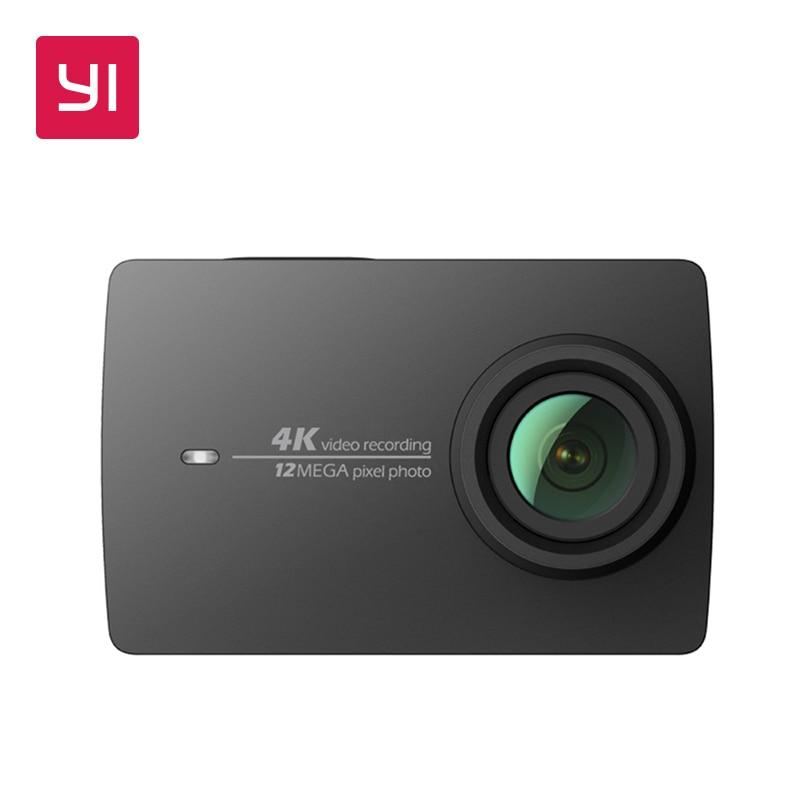 YI 4K Action Camera Black 2.19LCD Screen 155 Degree EIS Wifi International Edition Ambarella A9SE75 12MP CMOS 5GHz Wi-Fi yi 4k plus action camera waterproof case set international edition first 4k 60fps amba h2 soc cortex a53 2 2ldc ram eis wifi
