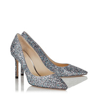 OnnPnnQ Sequin Wedding Shoes for Bride Mid Heels Pointed Toe Formal Party Prom Evening Dress Women Pumps