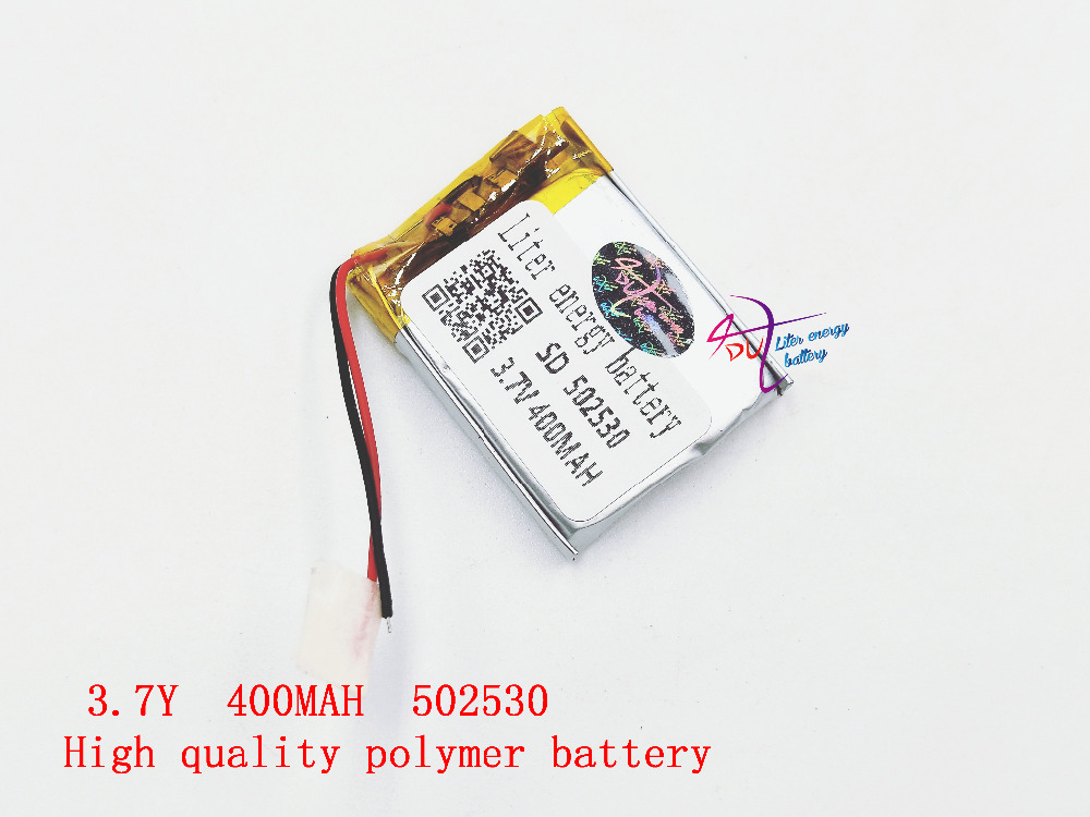 3.7V lithium polymer battery 502530 052530 400MAH Liter energy battery MP3 stereo Bluetooth little point reading pen 3 7v lithium battery bluetooth mp3 mp4 cell battery lithium polymer battery 401730 point reading pen electricity