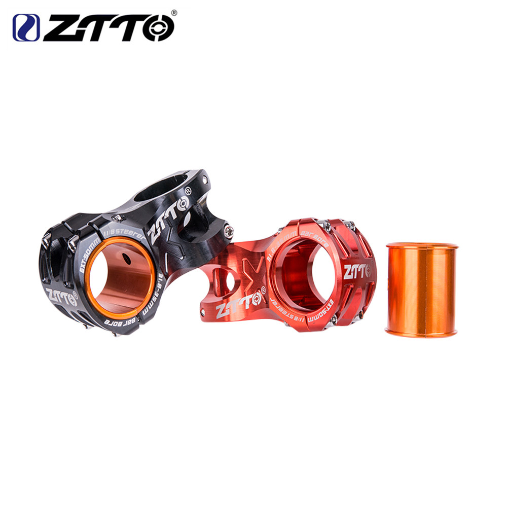 ZTTO 0 Degree Rise DH AM Enduro 28.6mm Bicycle Stem 50mm MTB Stem Aluminum Alloy CNC For 35mm / 31.8mm Handlebar Bicycle DH Stem