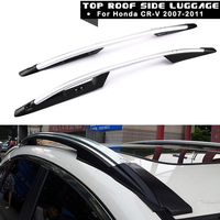2pcs Set Aluminum Car Top Roof Racks Luggage Cross Bars Sliver Alloy Auto Side Box Cargo
