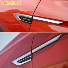 Aosrrun автомобиля Аксессуары Тюнинг автомобилей 4 шт. abs внешняя сторона Fender передней двери крышки Накладка для Volkswagen VW Tiguan 2017 MK2