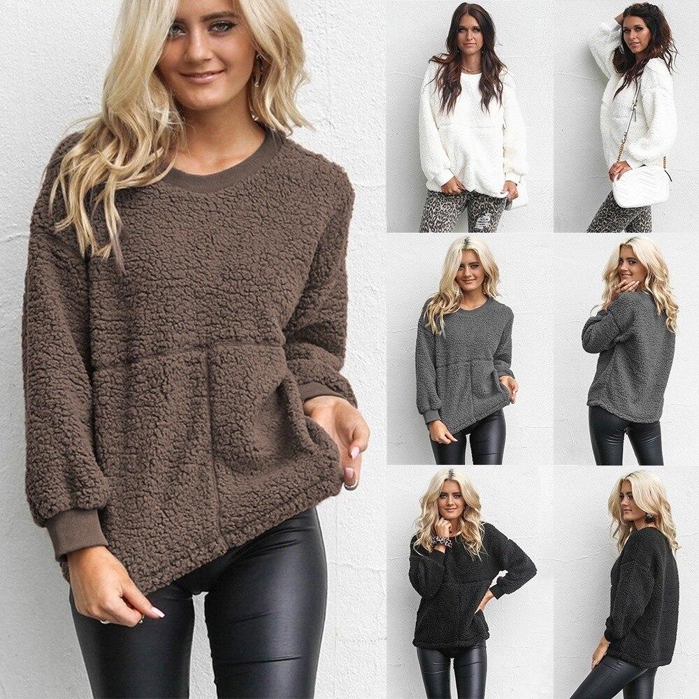 ZOGAA  sweaters fashion 2018 women Casual warm round neck long sleeve bubble pullover winter clothes women  crop top women S-XXL