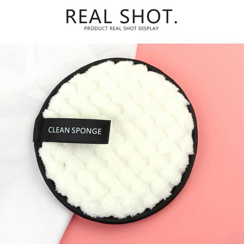 4Pcs Microfiber Cloth Pads Facial Makeup Remover Puff Face Cleansing Towel Reusable Cotton Double Layer Nail Art Cleaning Wipe 3