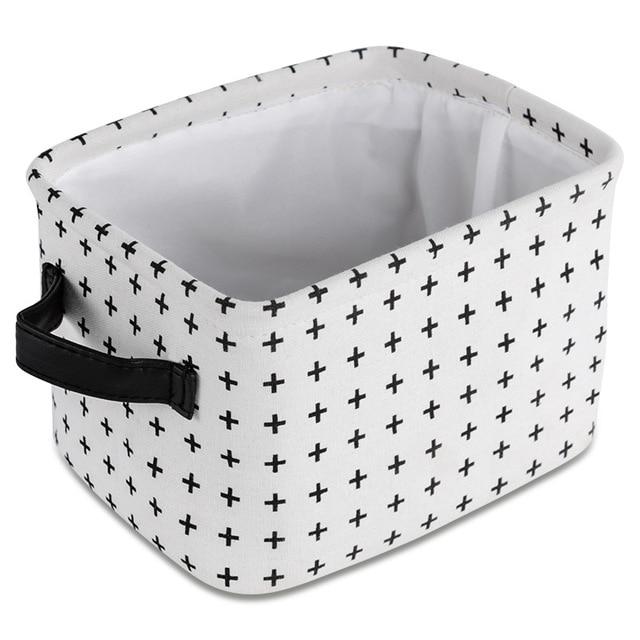 Desktop Storage Basket Sundries Underwear Toy Storage Box Cosmetic Book Organizer Stationery  Laundry Basket Fabric BasketsW0450