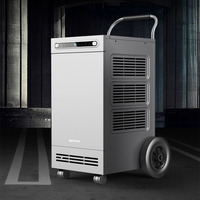 138L/Day Large Dehumidification Basement Work Shop Air Dehumidifier for Industrial Universal Wheels Intelligent Humidity Setting