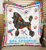 Summer 3D Dog Beautician Quilt Blanket For Kids Adults Bedding Throw Soft Warm Thin Blanket With Cotton Quilt King Size