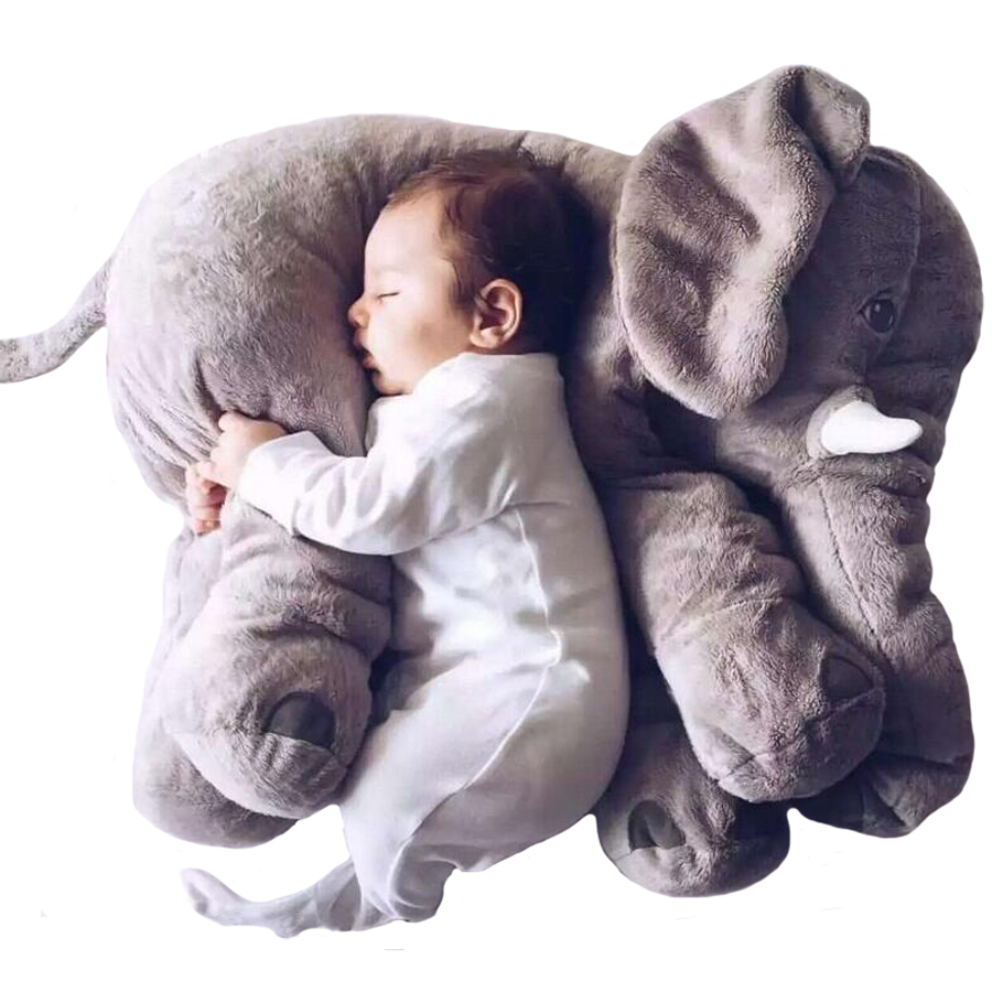 ФОТО New Arrival 60CM One Piece Gray Elephant Plush Doll With Long Nose Cute PP Cotton Stuffed Baby Super Soft Elephants Toys WJ346