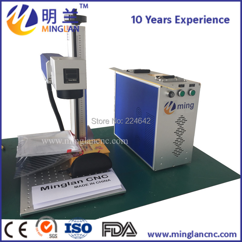 Aluminum alloy table fiber laser marking machine for metal marking with 20w raycus source