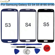 Front Panel For Samsung Galaxy S3 Neo S4 S5 Mini i8190 i9190 G900 i9300 Touch Screen LCD Display Outer Glass Cover Replacement(China)