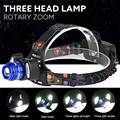 High Quality 15000Lm 3x XML T6 Rechargeable Headlamp HeadLight Torch USB Lamp+18650+Charger