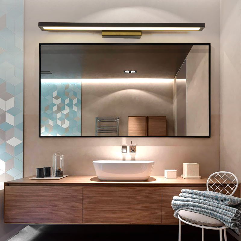 led mirror light Hand wash bathroom desk simple modern Nordic bathroom dressing table makeup mirror wall lamp