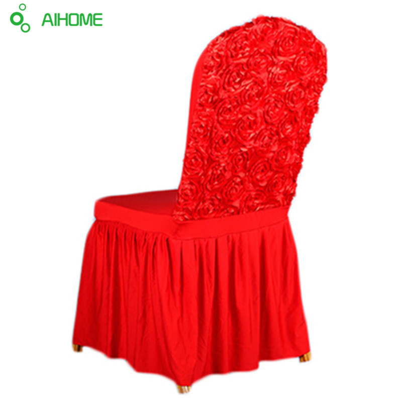 New Home Decor Luxury Spandex Chair Cover Roses Stretch