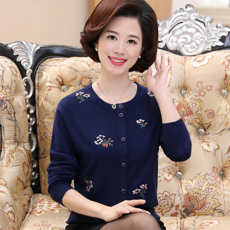 New Sweater Women Cardigan Knitted Sweater Coat Long Sleeve Printed Female Casual O-Neck Woman Cardigans Tops Pull Femme