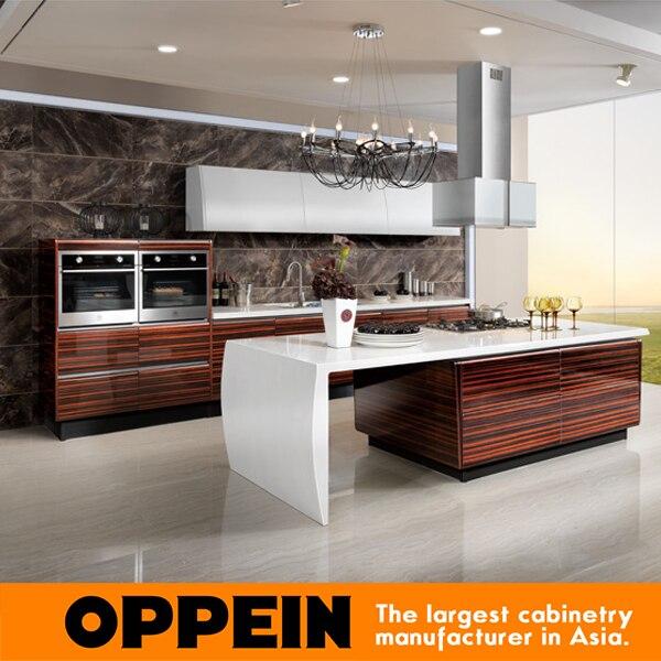 2016 Neueste Design Hochglanz Furnier Küchenschränke Weiße Farbe