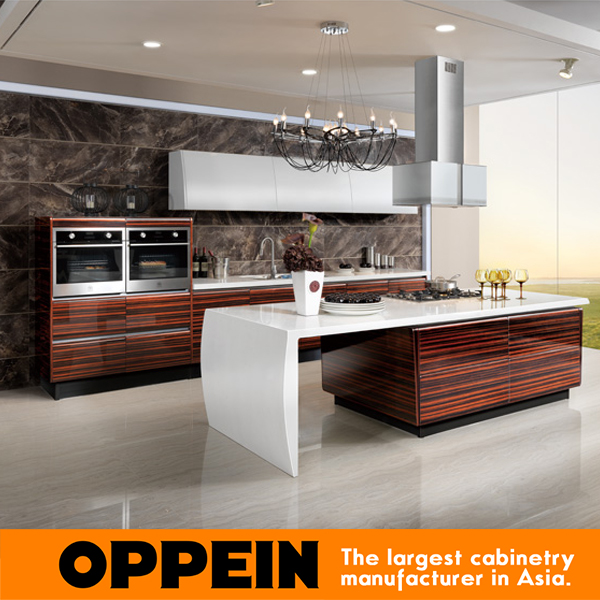 2016 Newest Design High Gloss Veneer Kitchen Cabinets White Color Modern Furniture OP13 285