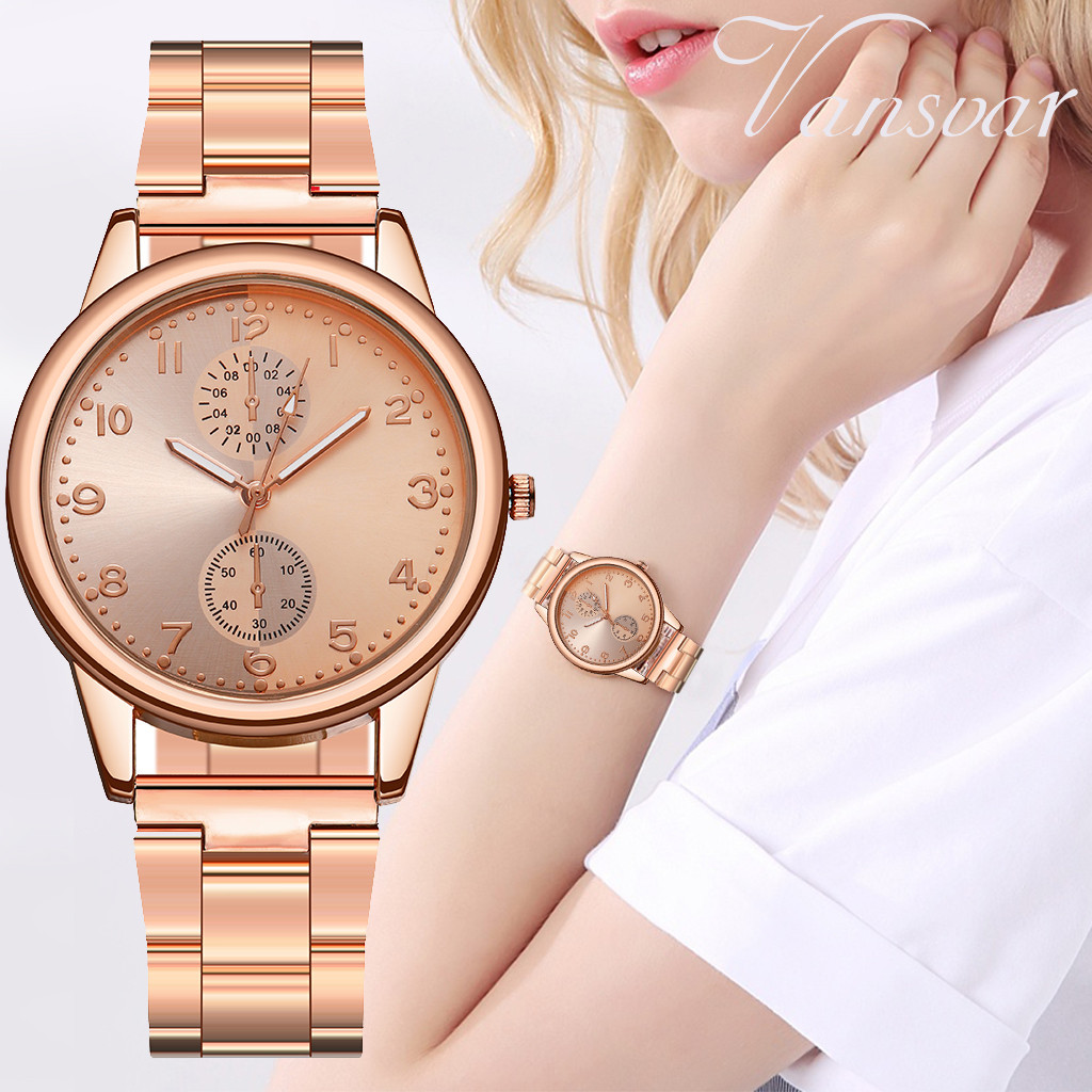 2019 Luxury Quartz Sport Watches Women Mesh Stainless Steel Band Large Dial Wrist Watch Relogio Masculino Feminino Saat A40